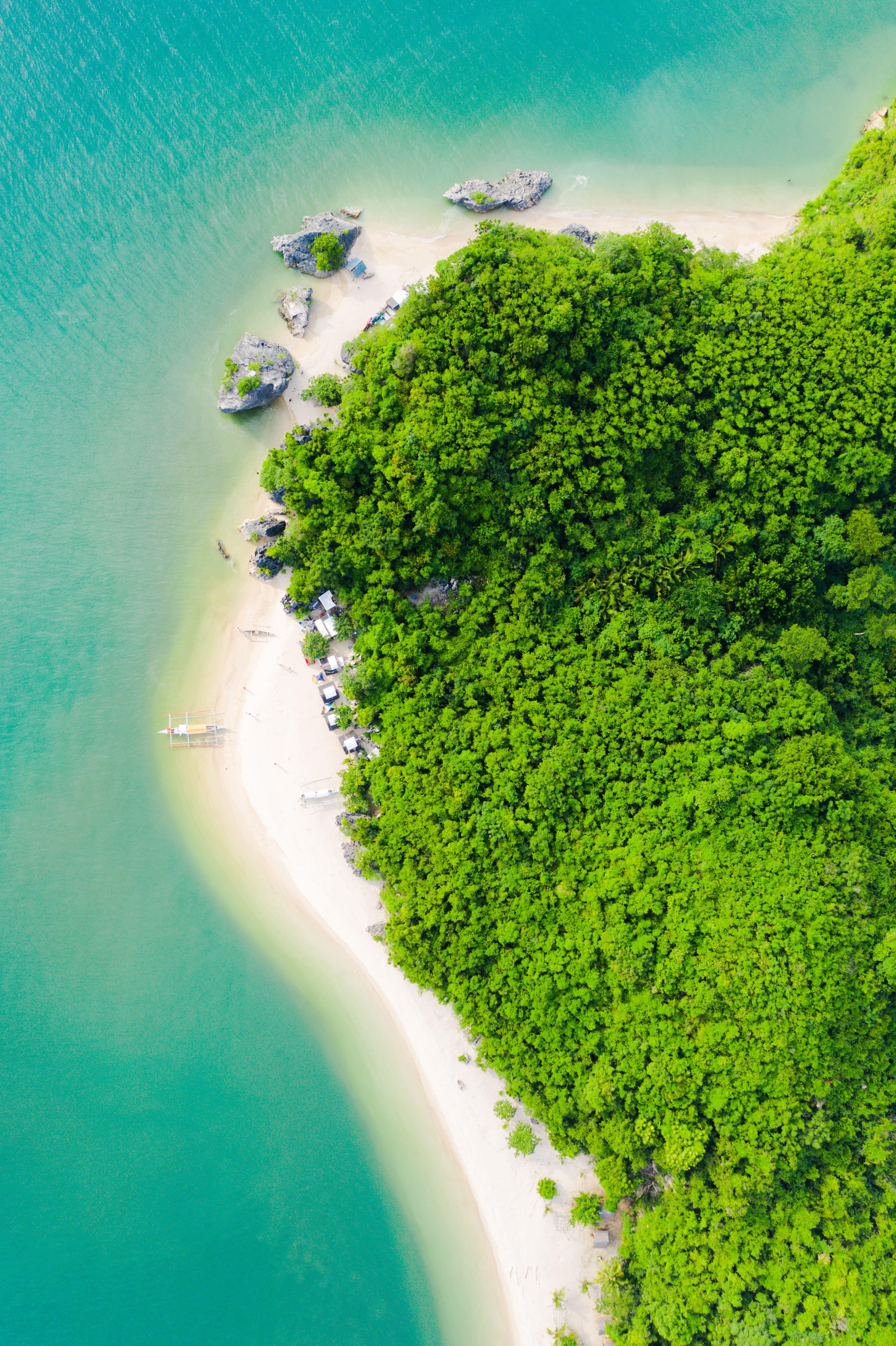 Borawan Island Aerial View