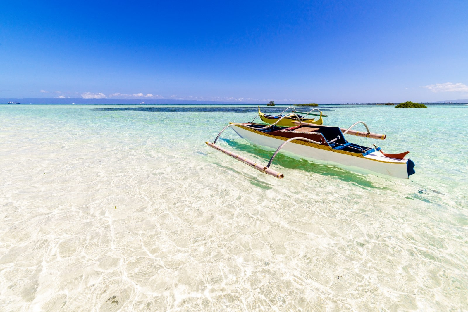 A peak at the clear waters of Virgin Island in Panglao, Bohol
