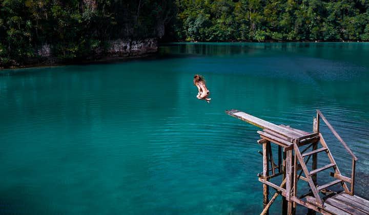 Board jumping at Subga Lagoon