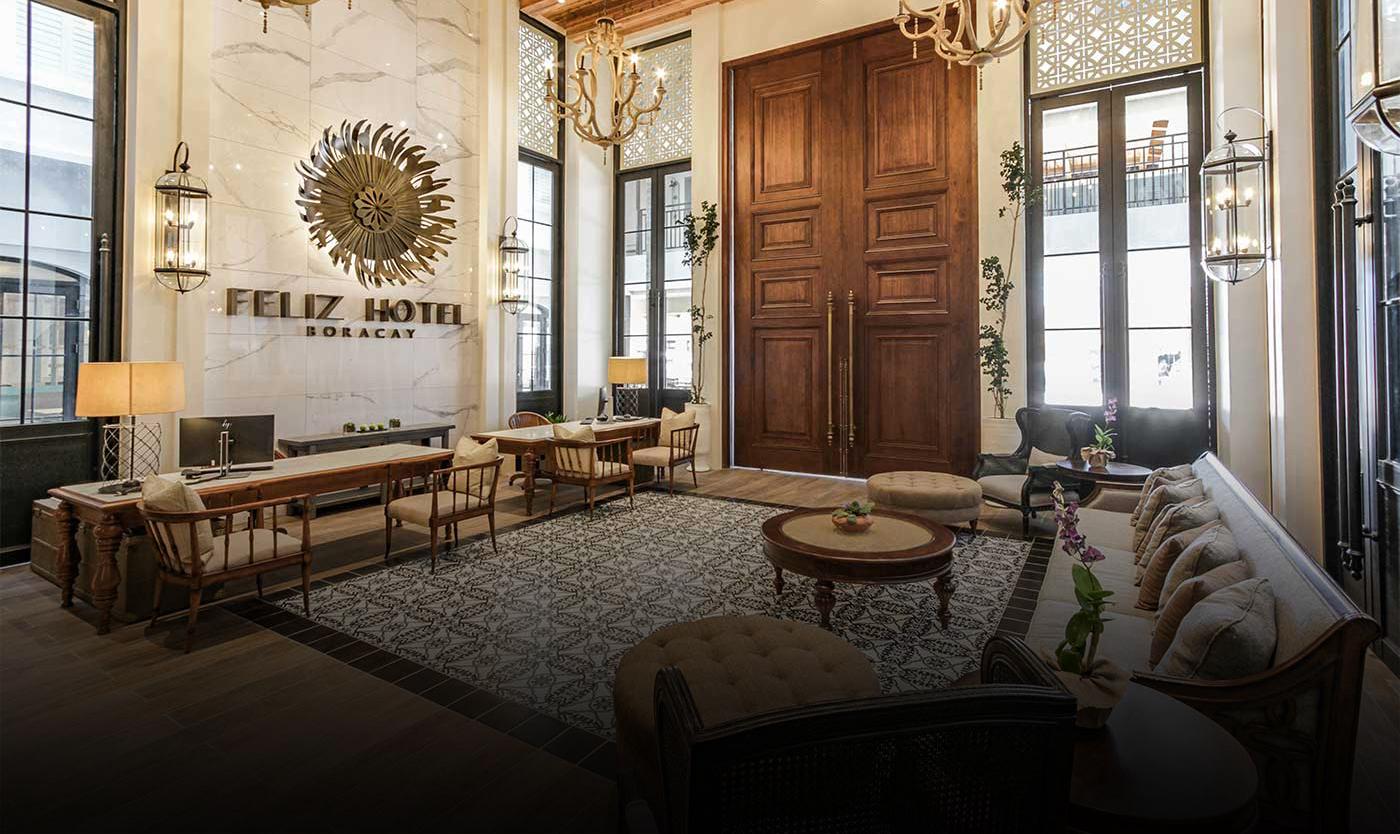 Lobby of Feliz Hotel Boracay