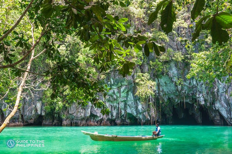 Boatman at the Puerto Princesa Subterranean River National Park