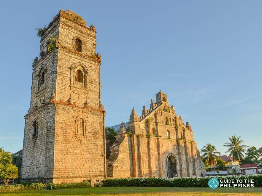 Facade of Paoay Church in Ilocos Norte