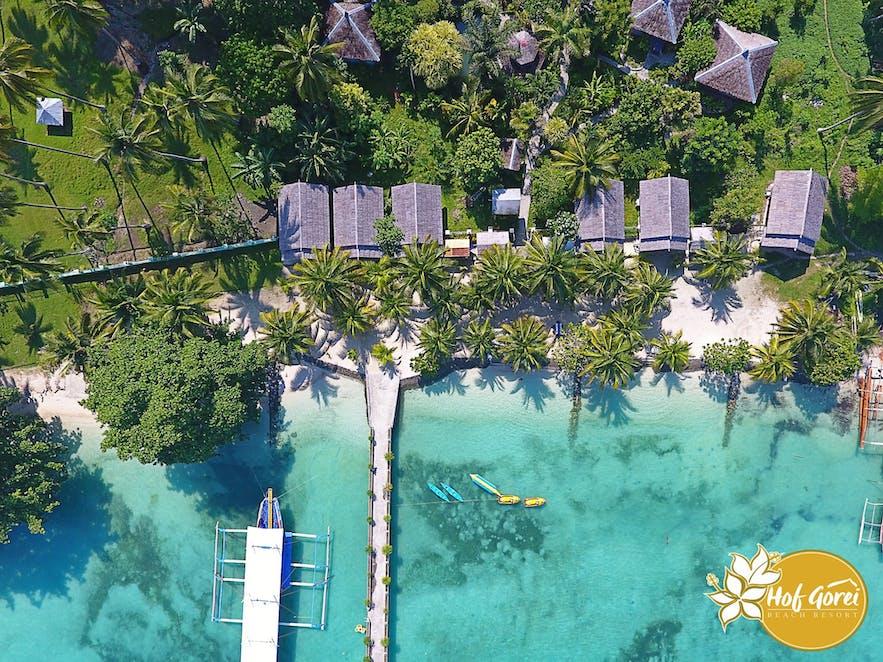 Aerial view of Hof Gorei Beach Resort