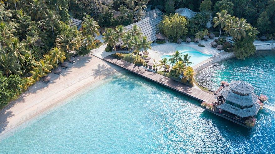 Aerial view of Pearl Farm Beach Resort