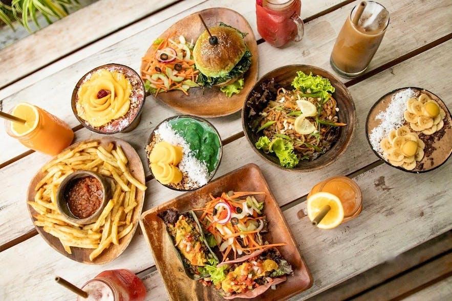 Dishes served at Shaka Bohol