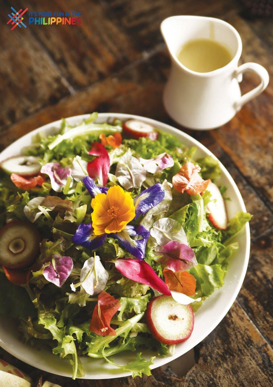 Bohol Bee Farm's salad