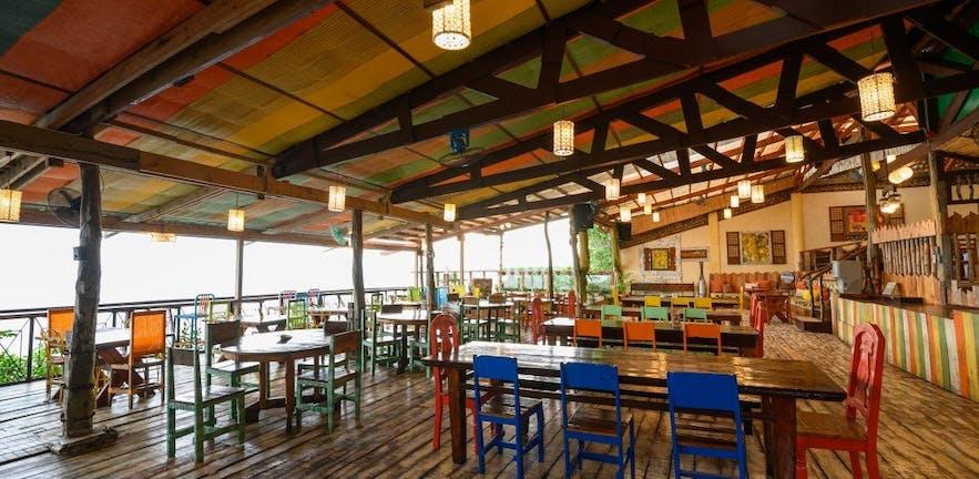 Bohol Bee Farm's outdoor dining area