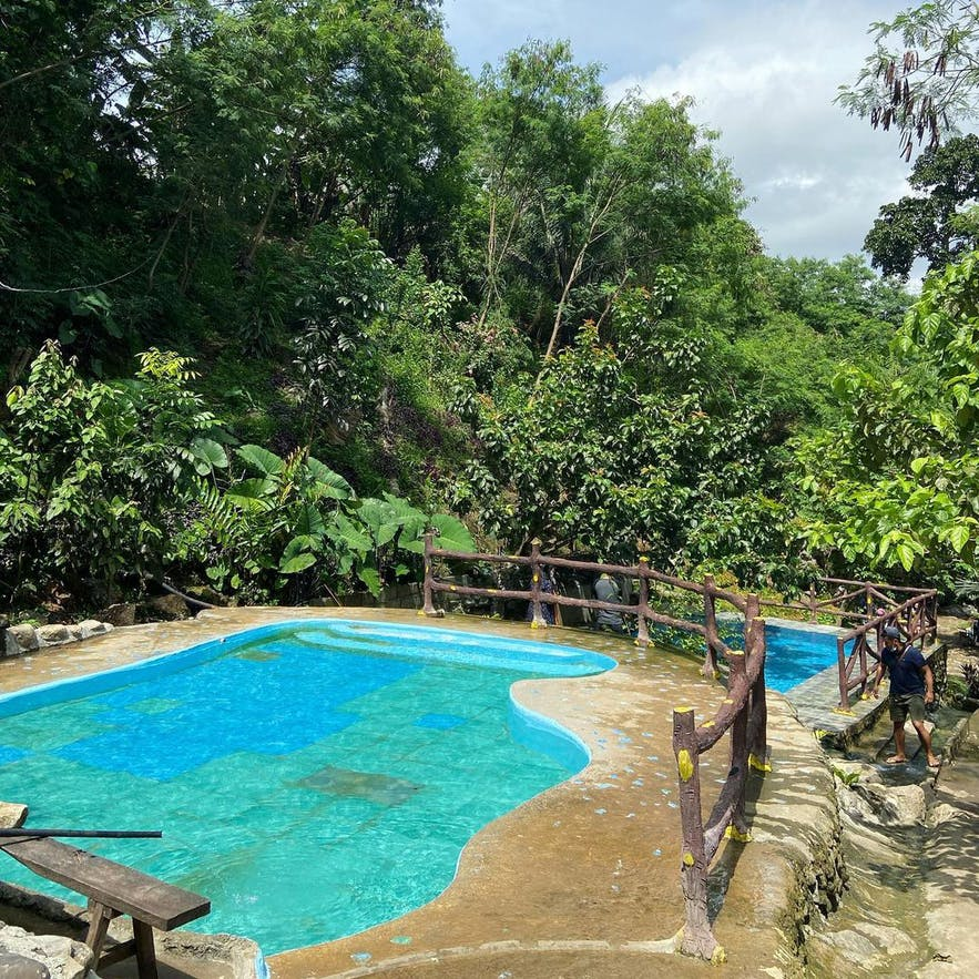 One of the pools in Marguez Hot and Cold Spring Resort