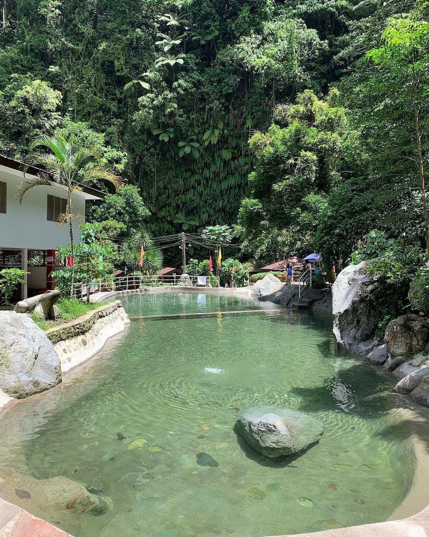 A pool in Panicuason Hot Springs Resort