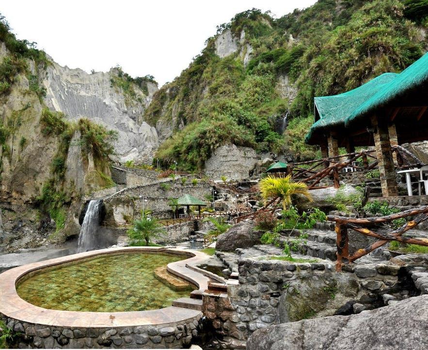 A hot spring pool in Puning Hot Spring
