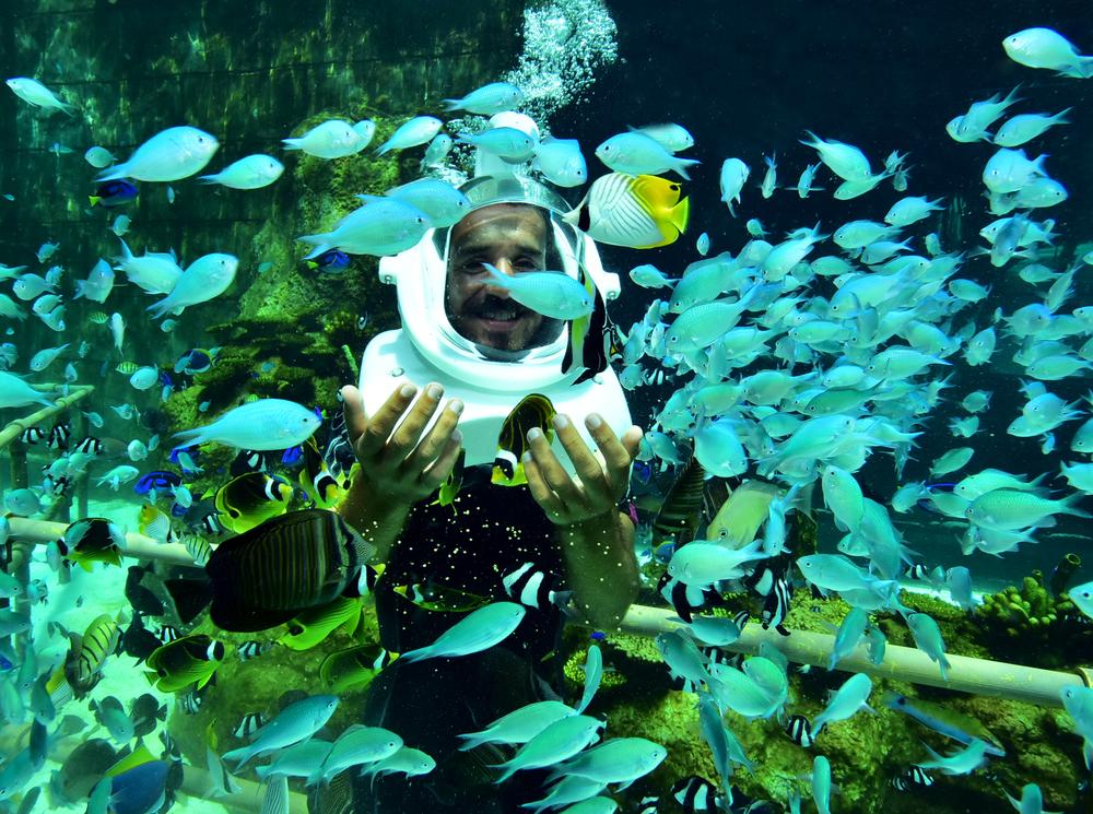 Helmet Diving in in Boracay Island
