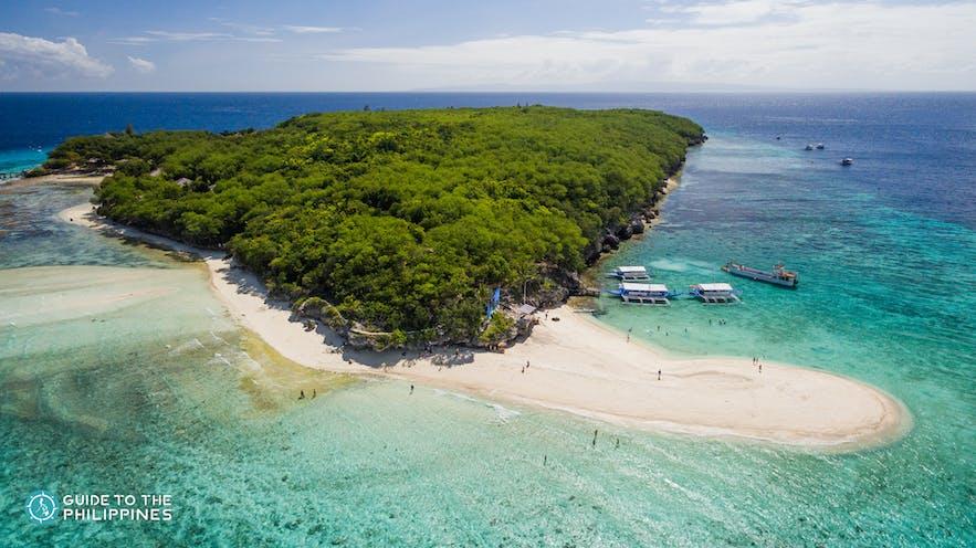 Aerial view of Sumilon Island