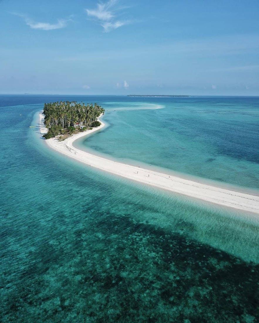 Aerial view of  Panampangan Island