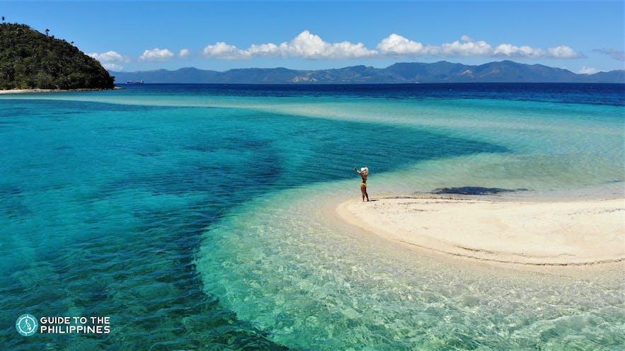 Woman standing on Bonbon Beach