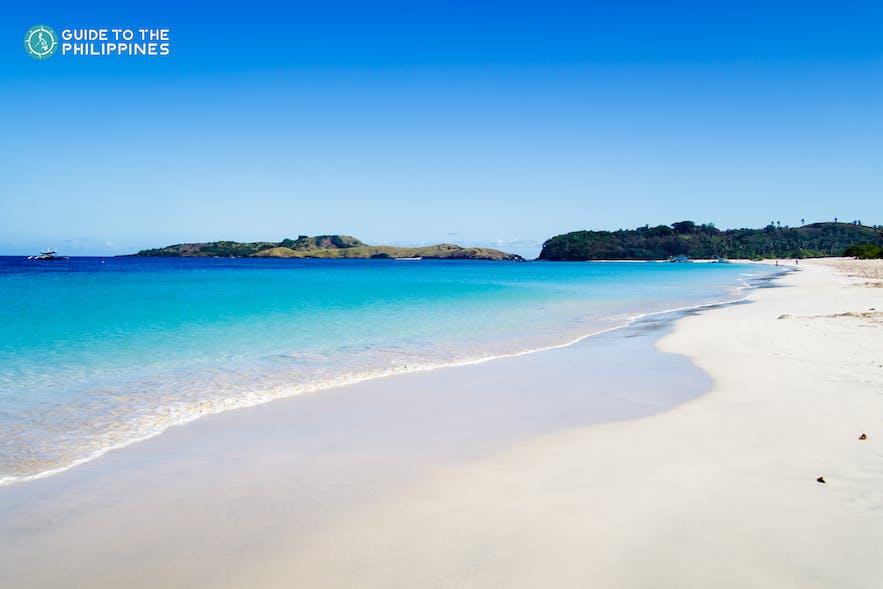 White-sand beach of the Calaguas Islands