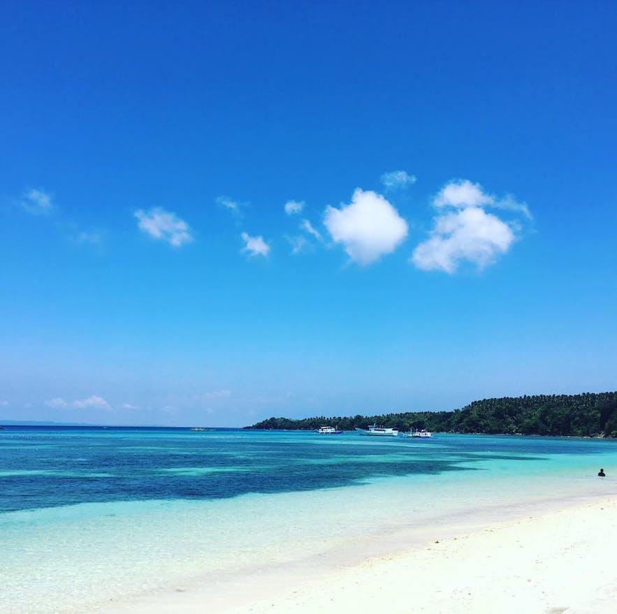 A white-sand shore on Caluya Island