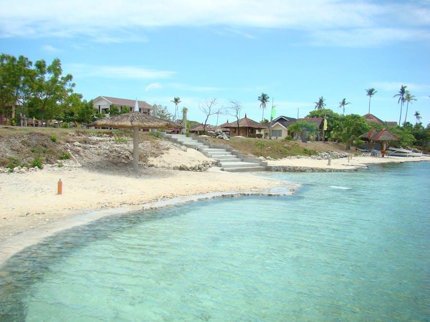 Shoreline of Higatangan Island
