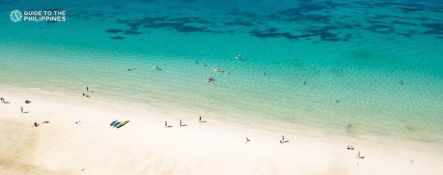 Aerial view of Boracay's White Beach
