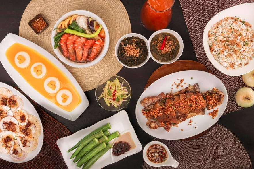 Filipino dishes served at Mesa