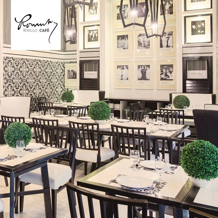Romulo Cafe's Makati City branch