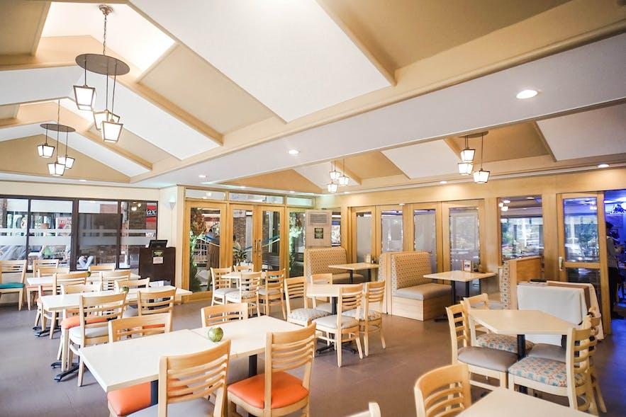Interior of  The Aristocrat Restaurant's Quezon Memorial branch
