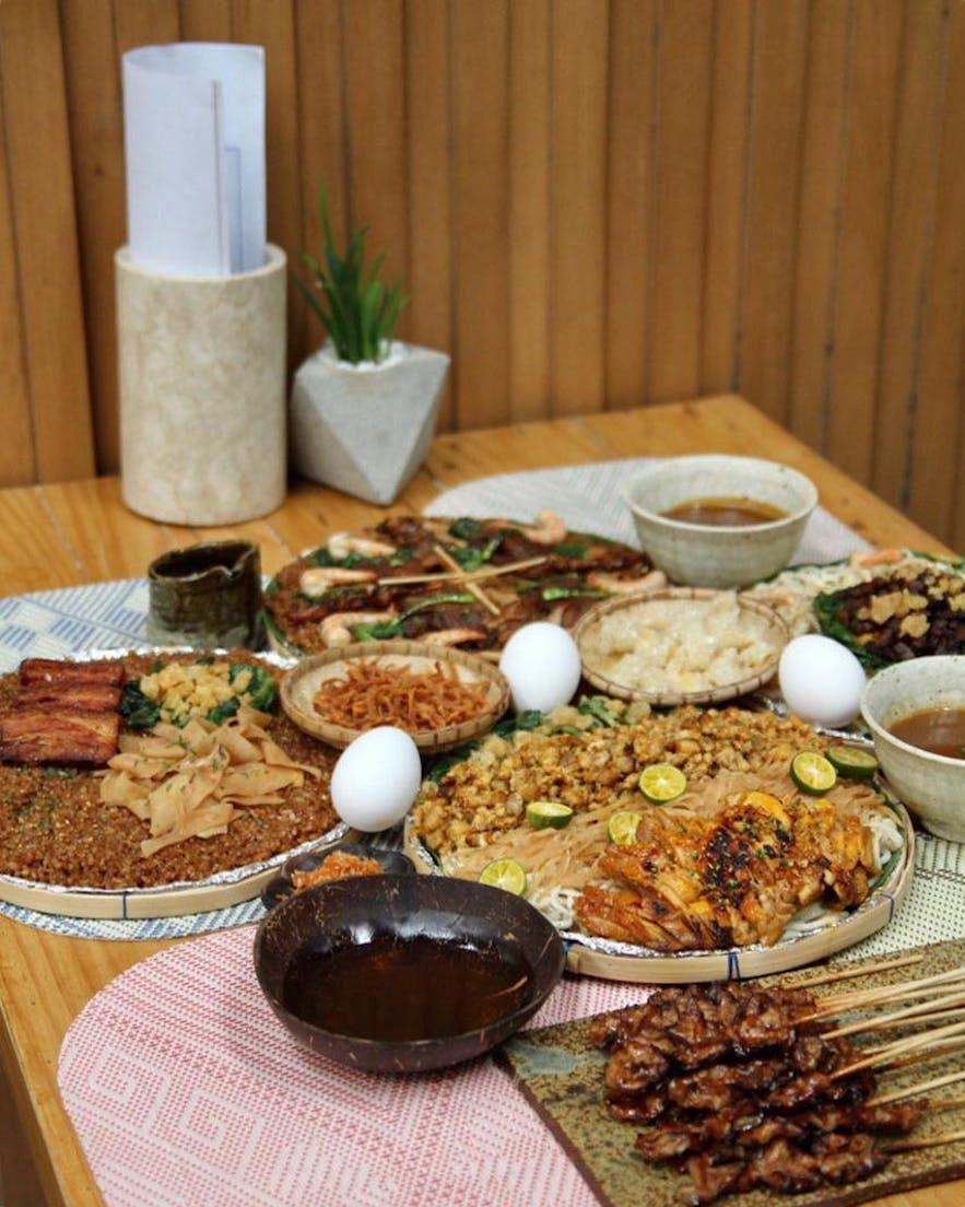 Toyo Eatery's bilao dishes