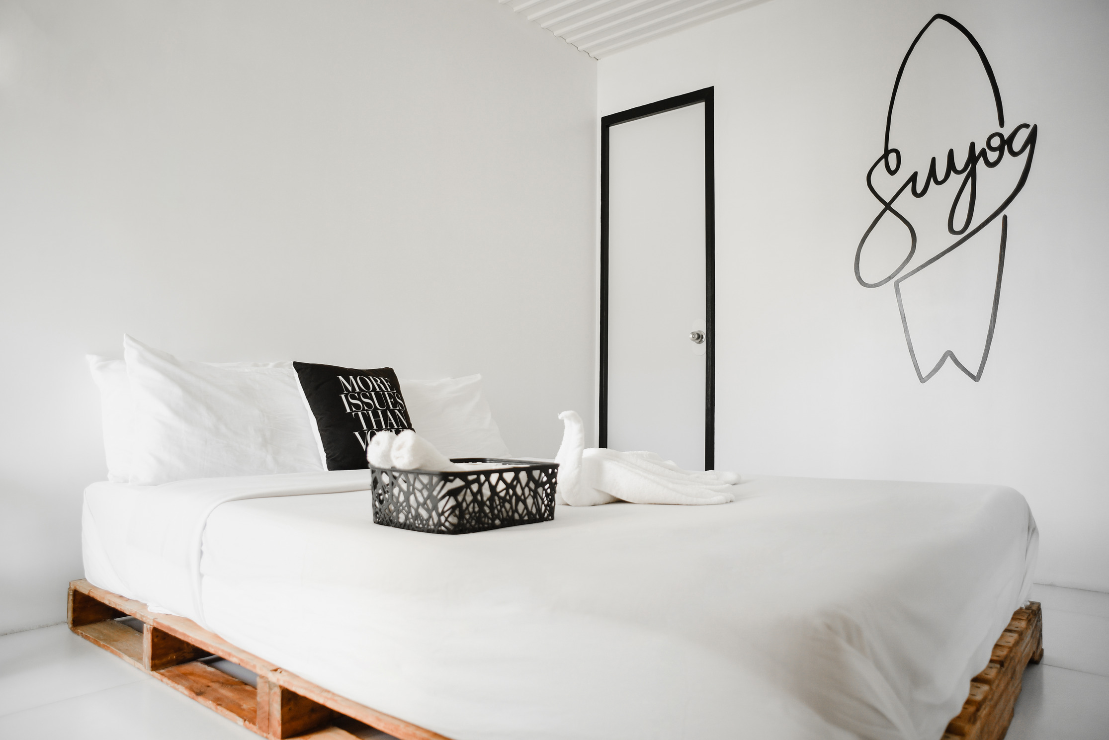 Inside the Double Room at Suyog Life Siargao