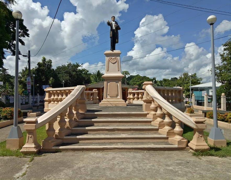 The Rizal monument in Guimaras Smallest Plaza