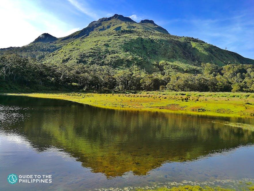 Mt. Apo infront of Lake Venado in Davao