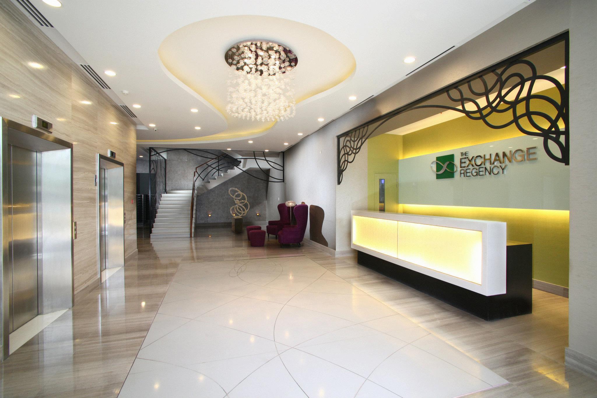 Lobby of The Exchange Regency Hotel
