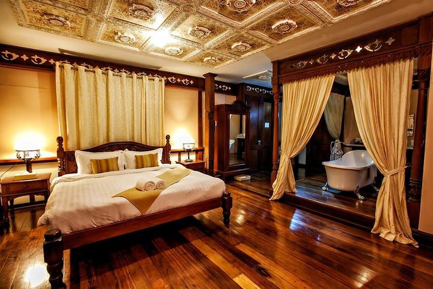 Casa Esquina's bedroom in Las Casas Filipinas de Acuzar