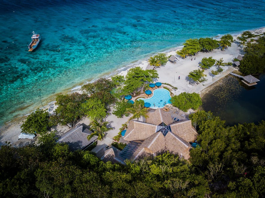Aerial view of Sumilon Bluewater Island Resort