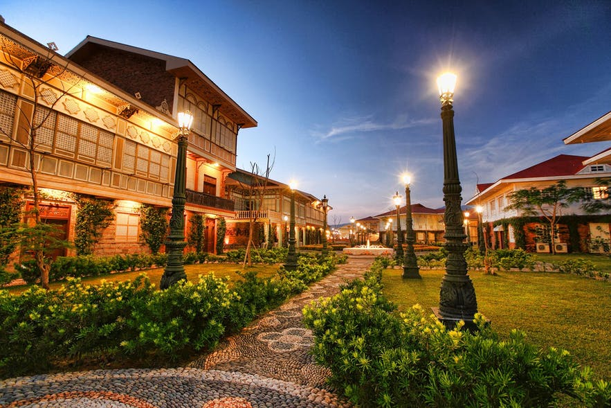 A pebblestone path in Las Casas Filipinas de Acuzar