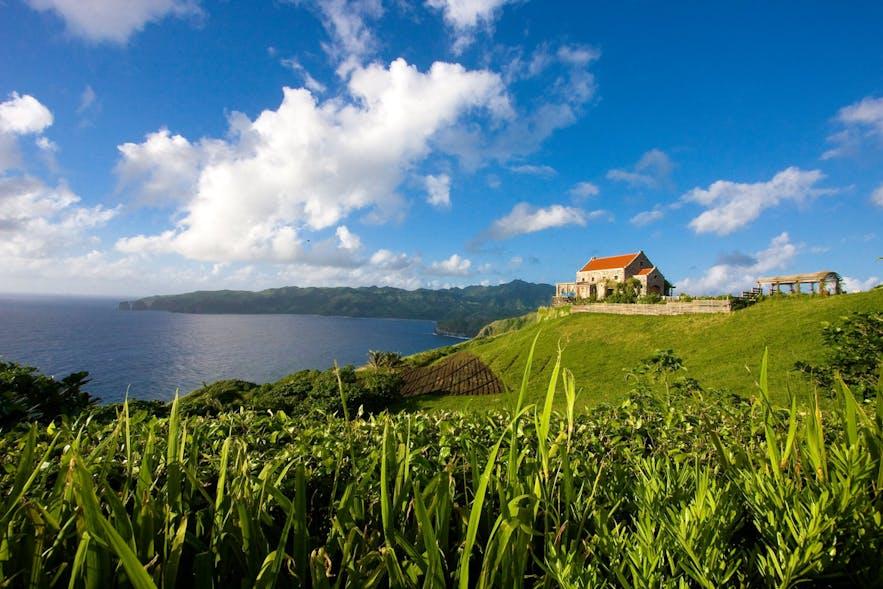 Fundacion Pacita atop a hill in Batanes
