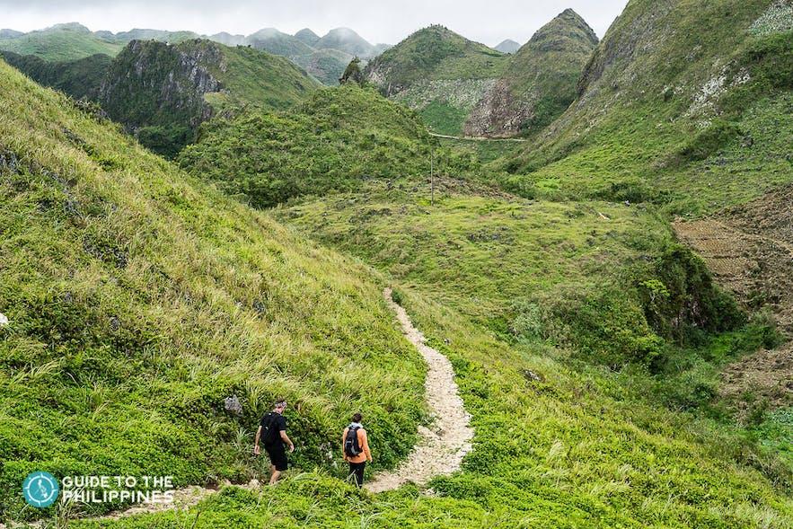 Hikers on a trail in Osmena Peak