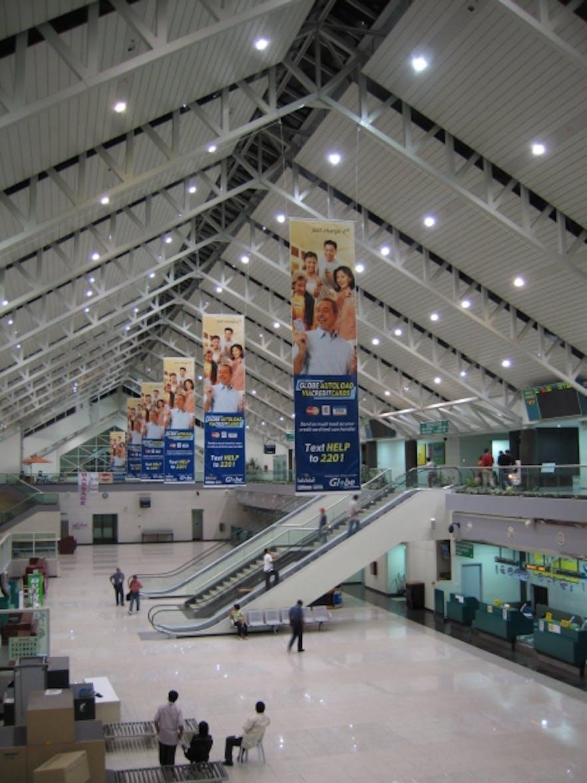 Interior of Davao International Airport's terminal
