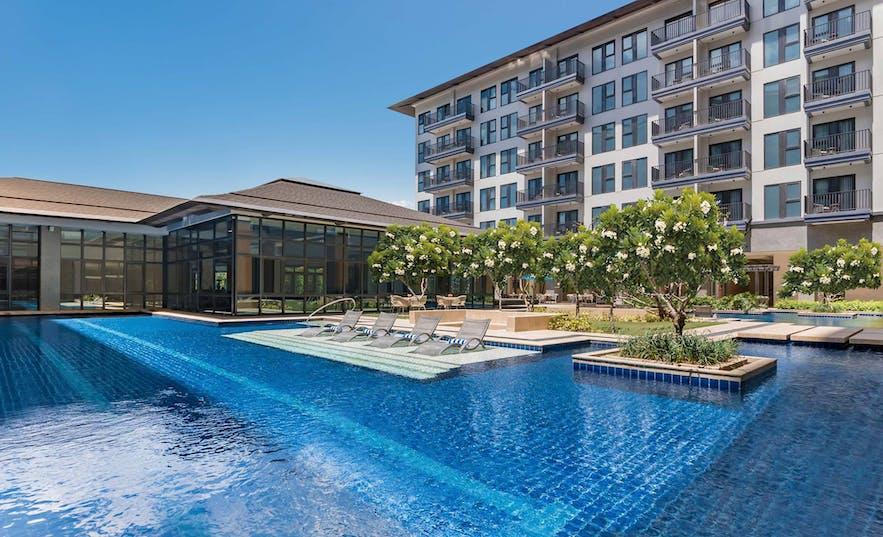 dusitD2 Davao's pool area