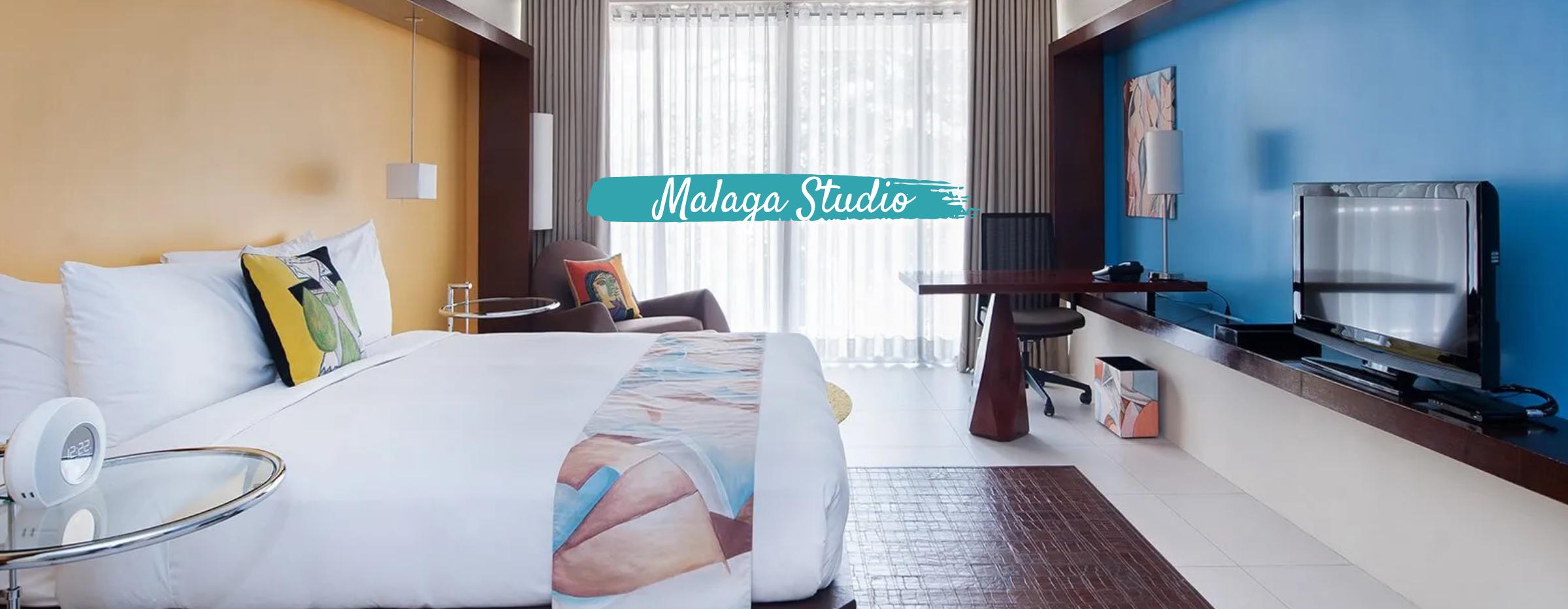 Inside the Malaga Studio at Picasso Hotel in Makati