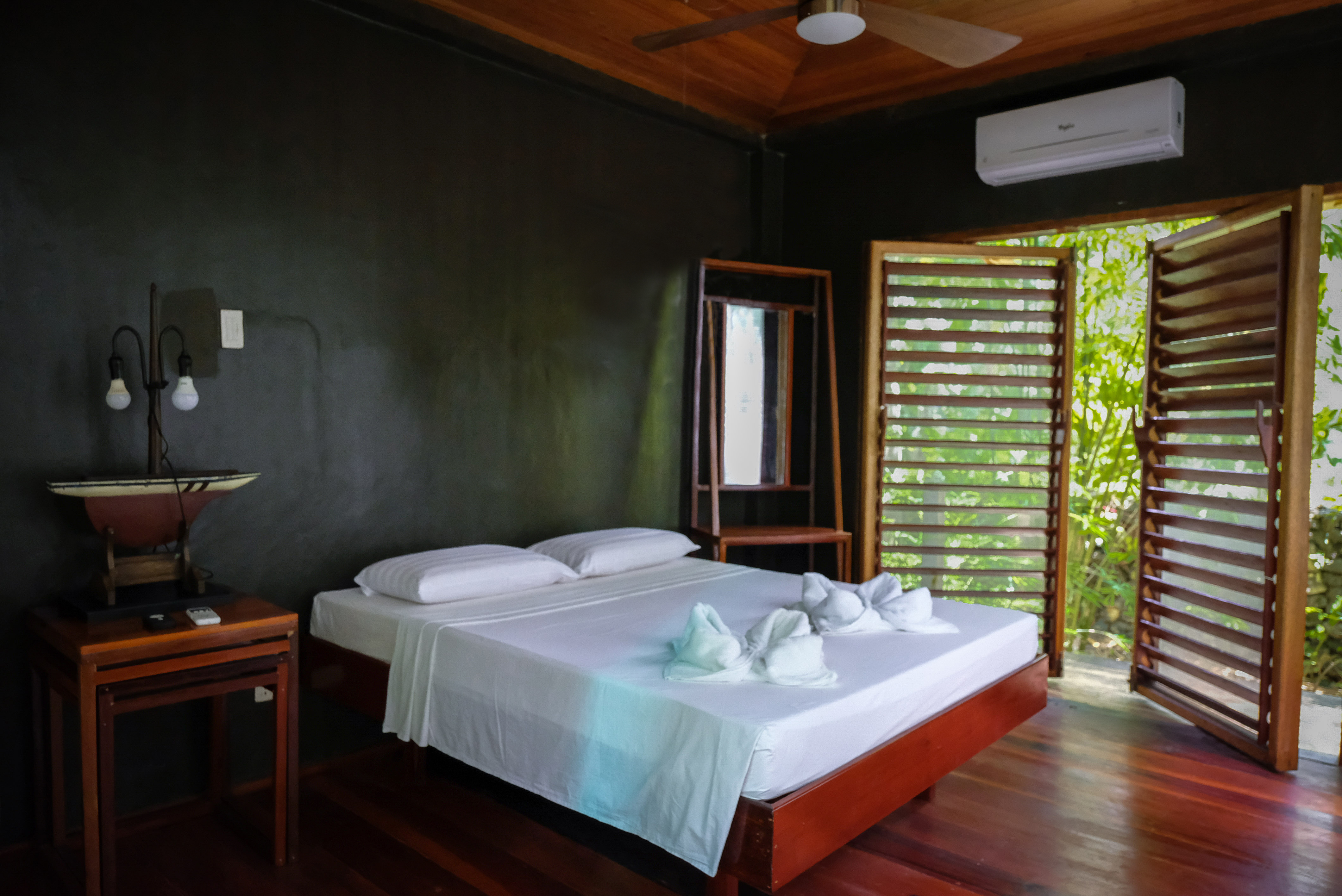 Inside a Private Room at Lotus Shores Siargao