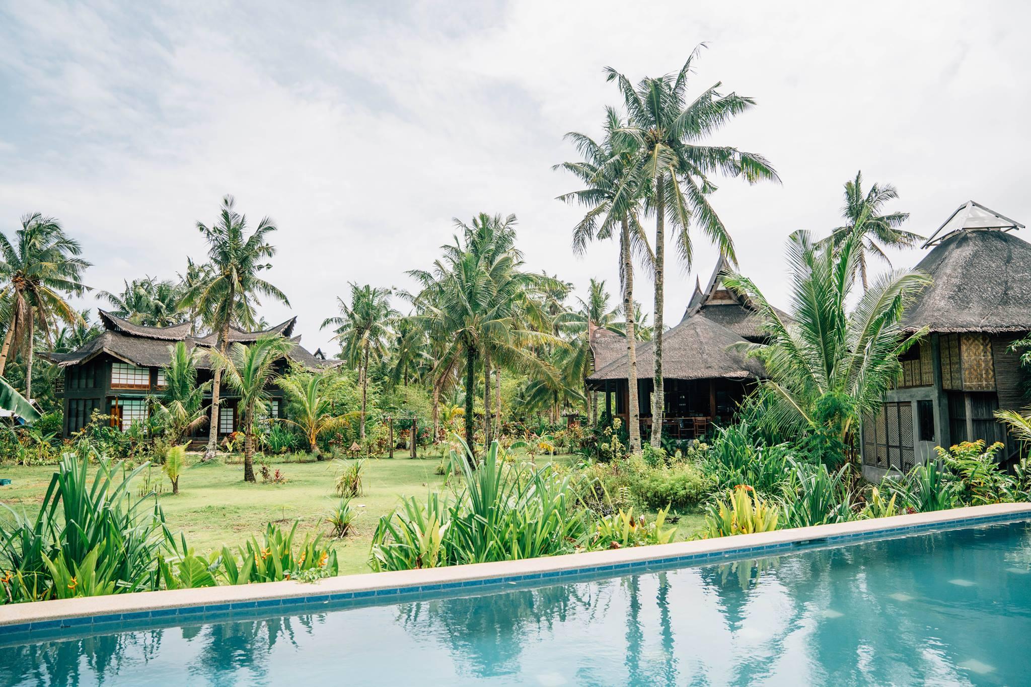 Lap Pool facing the amenities at Lotus Shores Siargao