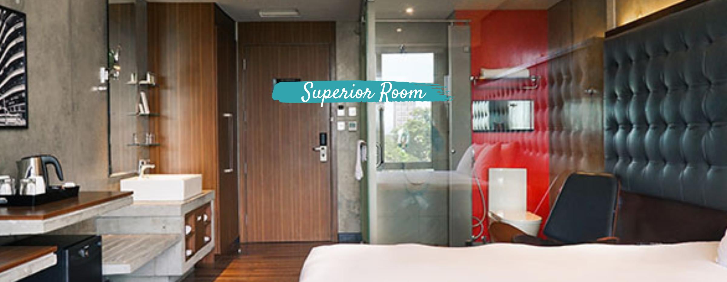 Interior of a superior room in B hotel in Quezon City