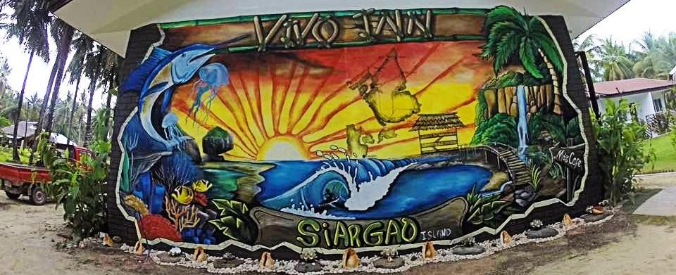 Common Area Mural at Vivo Inn Siargao