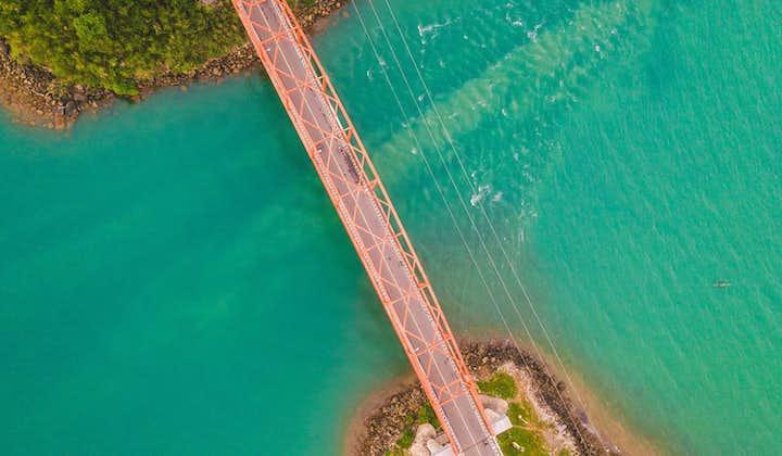 Aerial View of Bridge at Quezon Pagbilao Island