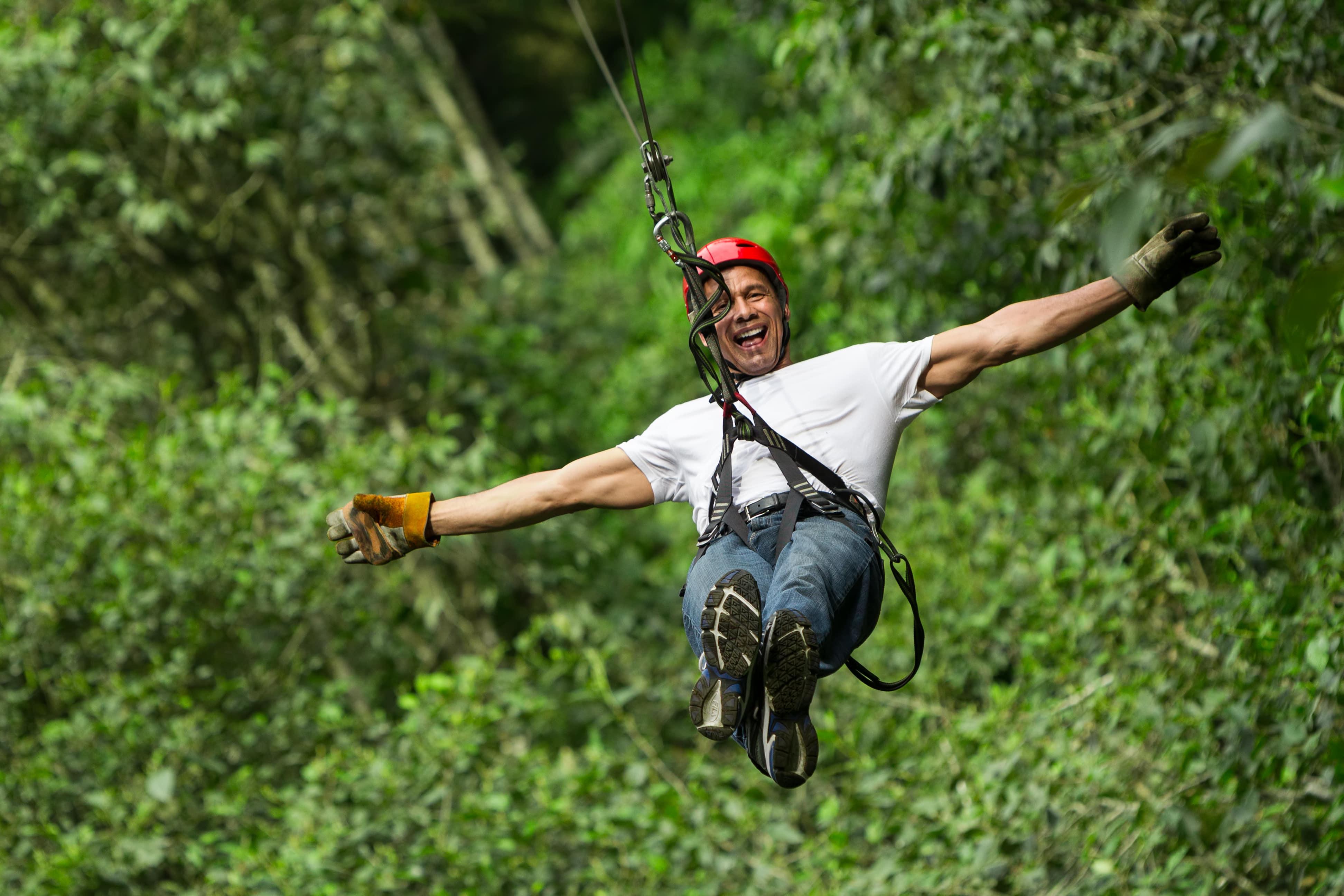Zipline to Jump Start of Canyoneering at Badian Cebu