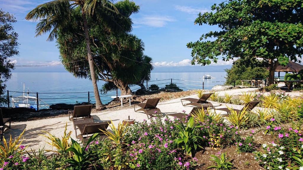 Garden facing Moalboal Beach at Cebu Seaview Dive Resort