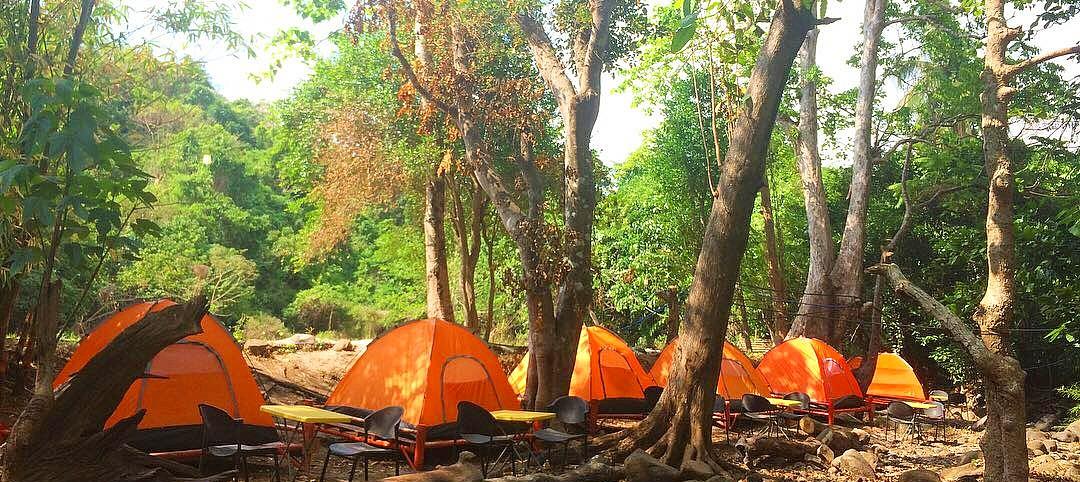Camping Tents at Playa La Caleta Resort, Morong, Bataan