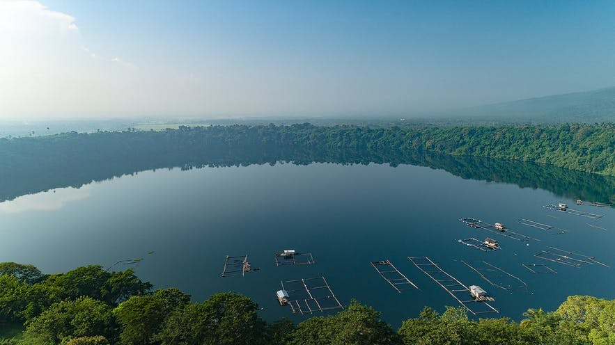 Aerial view of Lake Tikub