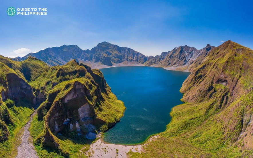 Aerial view of Mt. Pinatubo's crater lake