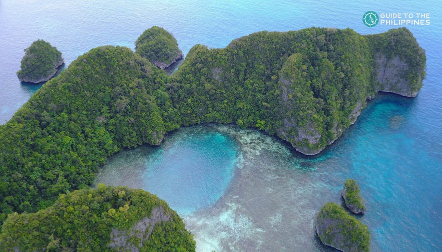 Aerial view of Pangabangan Tidal Pool