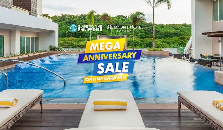 Pool area of Belmont Hotel in Boracay